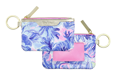 "Ladies Lilly Pulitzer ID case in ""Shade Seeker"" print."