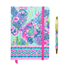 "Lilly Pulitzer journal in in ""Beach You To It"" print."