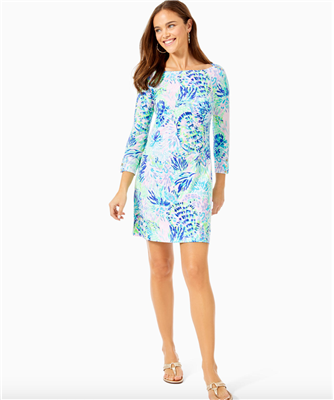 Ladies Lilly Pulitzer Sophie Dress in Shell of a Party print.
