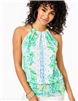 "Ladies Lilly Pulitzer Bowen Halter Top in ""Coconut Row"" print"
