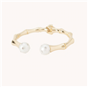 Ladies Lilly Pulitzer Pearl and Gold Hinged Bracelet