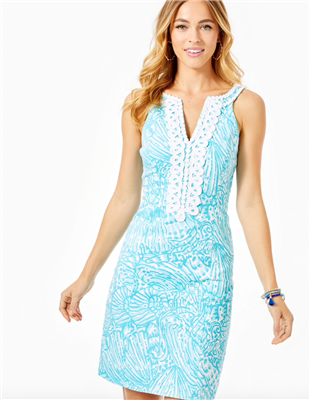 Ladies Lilly Pulitzer Valli Stretch Shift Dress in Print