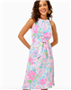 Ladies Lilly Pulitzer Mabry Midi Dress in Flock Full of Fun print.