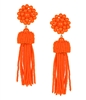 ladies Tassel Earrings Orange