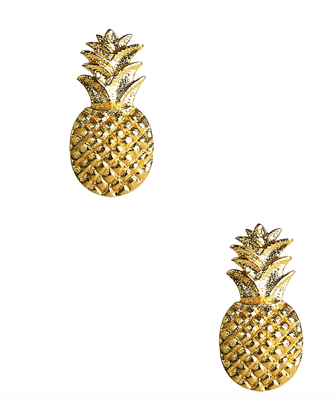 Lisi Lerch Gold Pineapple Stud Earring