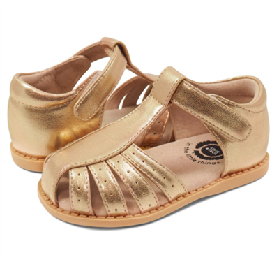 toddler gold metallic sandal