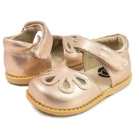 Petal Mary Jane in Rose Gold Metallic from Livie and Luca