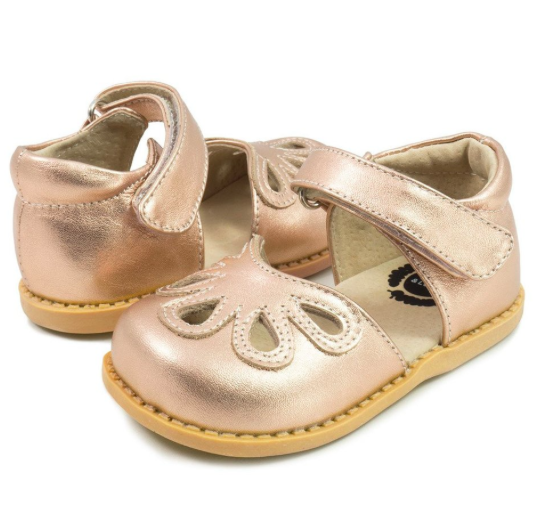 0ccf78c6061e Petal Mary Jane in Rose Gold Metallic from Livie and Luca