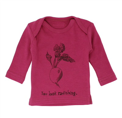 L'oved Baby Organic Long Sleeve T-shirt Magenta