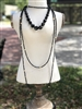 Ladies Long Beaded Layering Necklace in Black