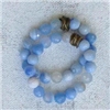faceted ocean agate Stretch Bracelet