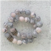 faceted matte pink zebra Stretch Bracelet