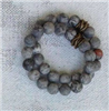 faceted picasso jasper Stretch Bracelet