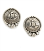 Sailing Ship Button Clip Earrings