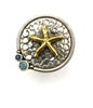 Ladies Sterling Silver ring with Bronze Starfish from Mars & Valentine