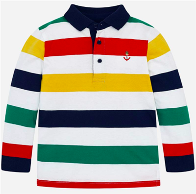 stripe plaid toddler long sleeve polo shirt