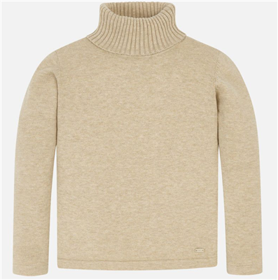 Mayoral Toddler Beige Turtleneck Sweater
