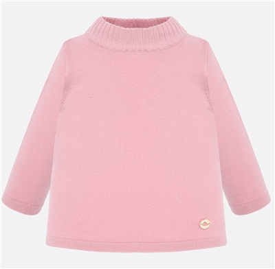 toddler pink high neck sweater