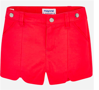 toddler red satin shorts