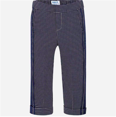 toddler navy trousers with ribbon down the sides