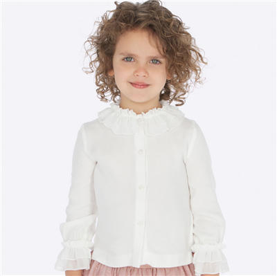 Mayoral Toddler White Button Front Blouse