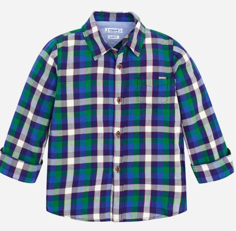 235dba149 Mayoral Plaid Long Sleeve Button Down Shirt - Fall Toddler Clothing ...