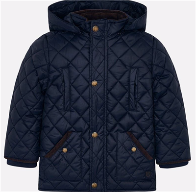 navy toddler quilted coat