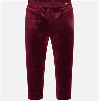 burgundy velvet toddler leggings