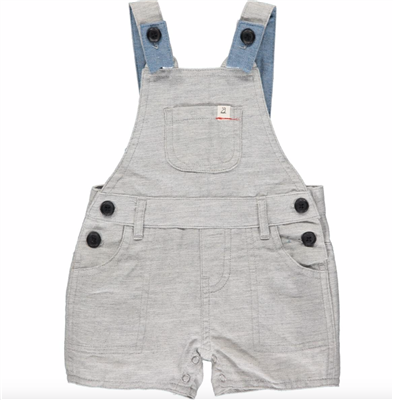 Gray Short overalls for baby