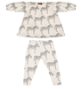 baby cotton Dress & Legging Set with zebras all over them