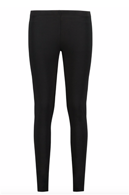 Ladies long black cotton blend leggings.