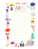 Colorful notepad of 50 tear off sheets to communicate with the babysitter