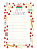 Colorful notepad of 50 tear off sheets to communicate with the teacher