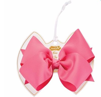 little girl hot pink bow clip