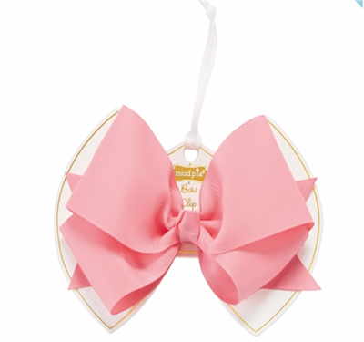 little girl light pink bow clip
