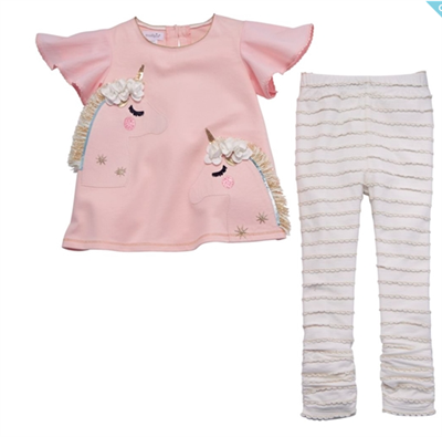 toddler unicorn tunic set with leggings