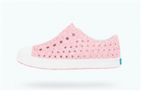 plastic baby slip on shoes in bling pink