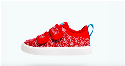 toddler red sneakers with velcro straps