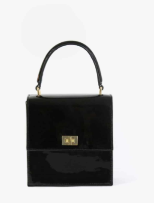 ce98e6542aae Neely   Chloe Mini Lady Bag in Black Patent - classic ladies handbag ...
