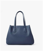 navy soft  leather handbag with 2 straps