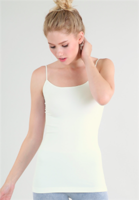 ladies ivory stretch tank top