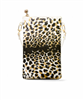ladies leopard gold vinyl cross body bag with gold top zip