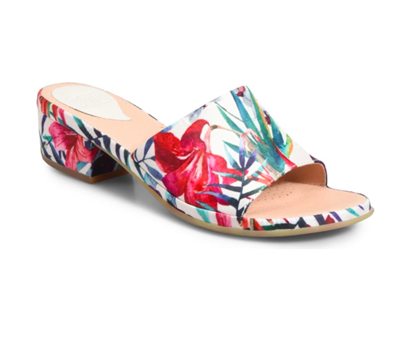 women's white floral embroidered block heel sandals