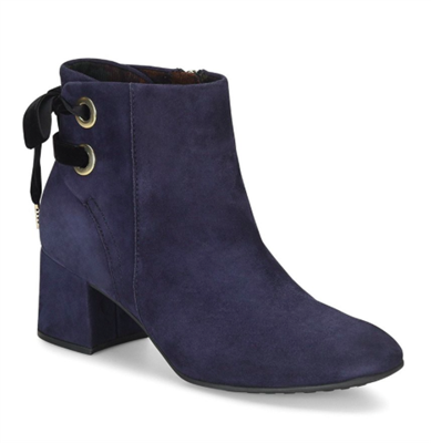 ladies navy suede booties