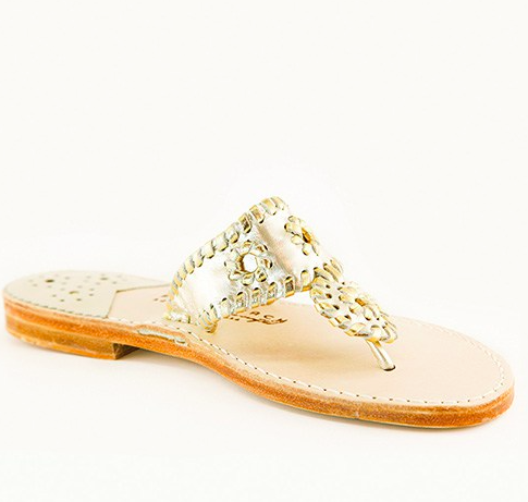 34cdbea9974a9 Classic Platinum with Gold Sandal from Palm Beach Sandals - preppy ...