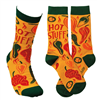 "women's socks that read ""hot stuff"""