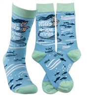 socks that read kinda pissed I'm not a mermaid socks