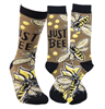 unisex socks with bees on them