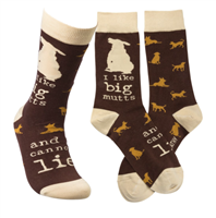 socks that read I Like Be Mutts and I Cannot Lie