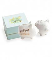 Girls Just Wanna Have Funds Porcelain Bank from Rosanna Imports